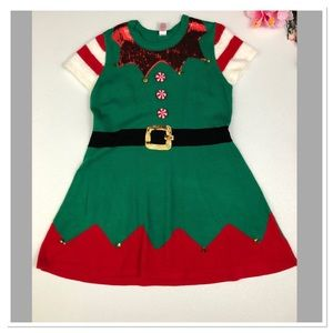 b26f8f0f46f4b holiday time Dresses - Holiday Time Not Ugly Christmas Elf Sweater Dress